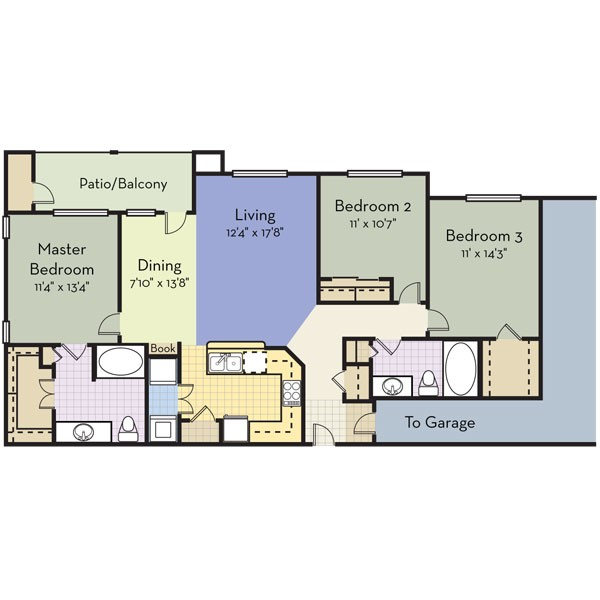 1,420 sq. ft. PARADISE BEACH floor plan