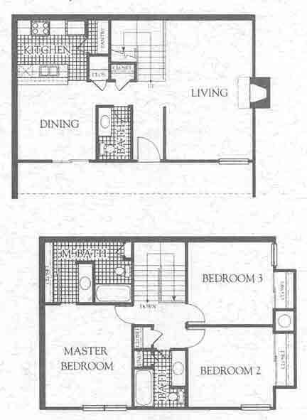 1,480 sq. ft. C3 floor plan