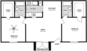 882 sq. ft. floor plan
