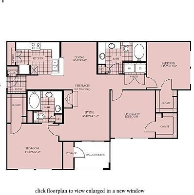 1,352 sq. ft. Vancouver floor plan
