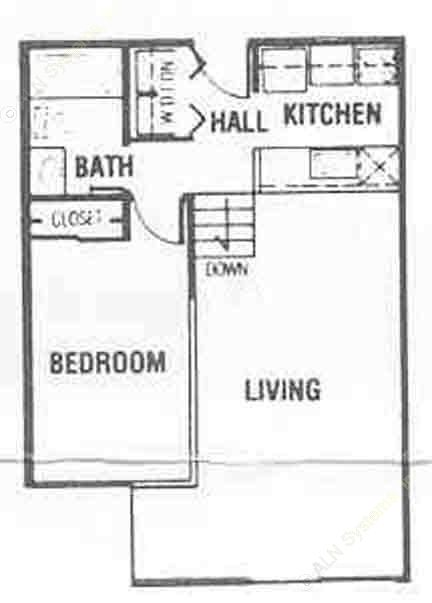 567 sq. ft. A1/A2 floor plan