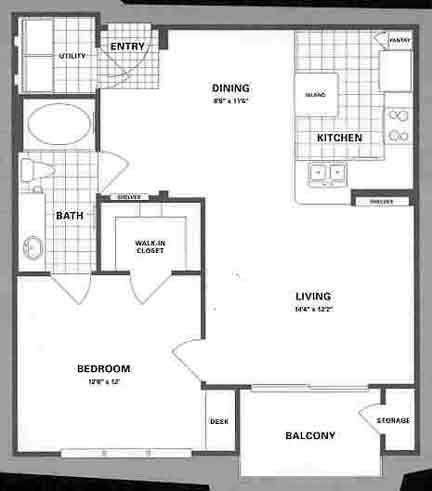 792 sq. ft. A4P floor plan