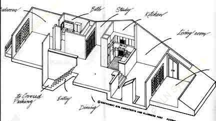 834 sq. ft. A1 floor plan