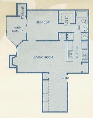 777 sq. ft. B6 floor plan