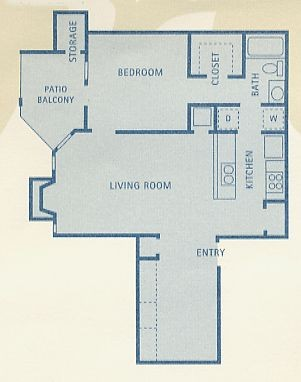 777 sq. ft. B6 floor plan