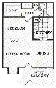 520 sq. ft. floor plan