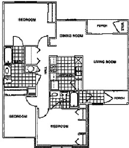 1,096 sq. ft. C1/60 floor plan