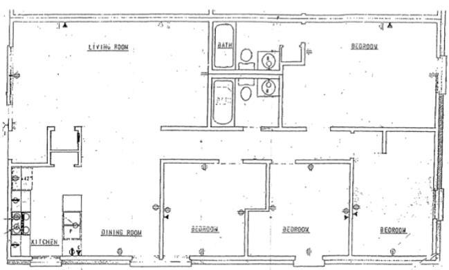1,061 sq. ft. floor plan