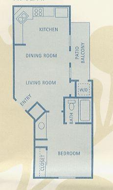 447 sq. ft. A1 floor plan