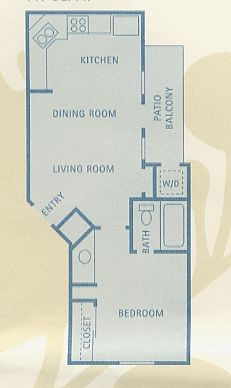 447 sq. ft. A1 floor plan