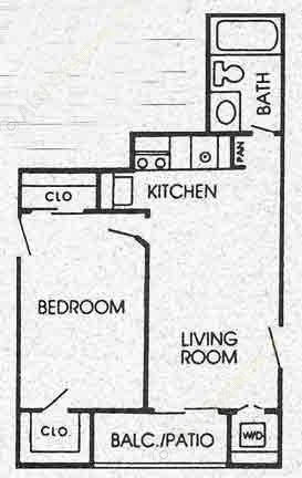 500 sq. ft. A floor plan