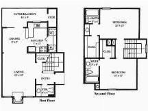 1,186 sq. ft. floor plan