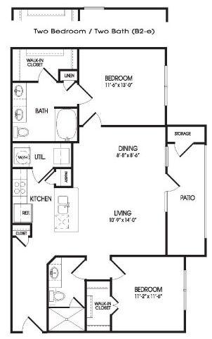 1,065 sq. ft. Pelly floor plan