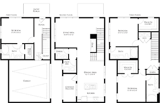 2,078 sq. ft. 6THC2GG floor plan