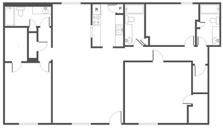 1,387 sq. ft. to 1,427 sq. ft. G floor plan