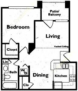603 sq. ft. floor plan