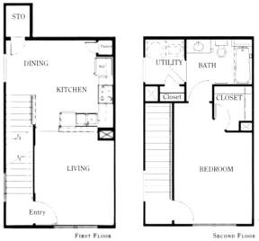 824 sq. ft. A1/50 floor plan
