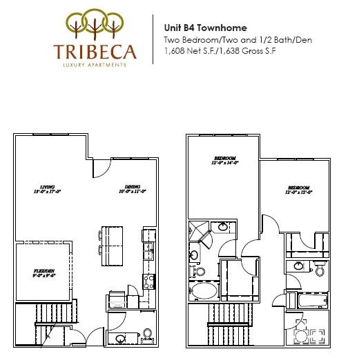 1,608 sq. ft. Park Place floor plan