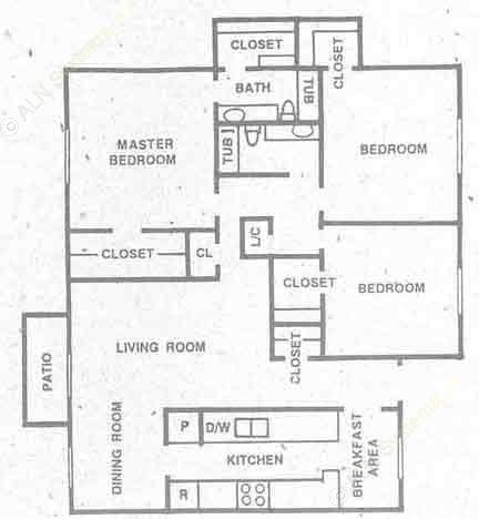 1,403 sq. ft. C1 floor plan