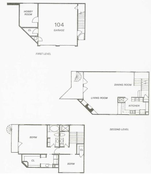 1,296 sq. ft. 106 floor plan