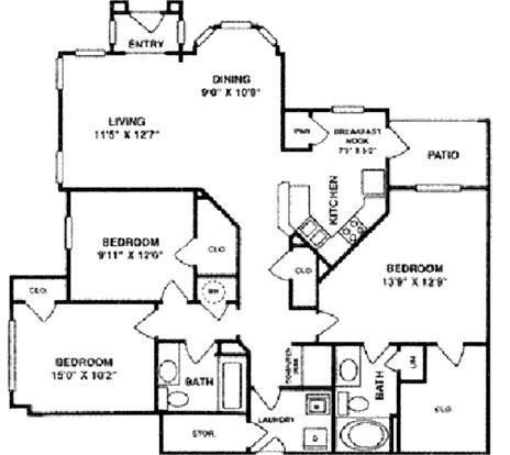 1,504 sq. ft. C1 LOWER floor plan