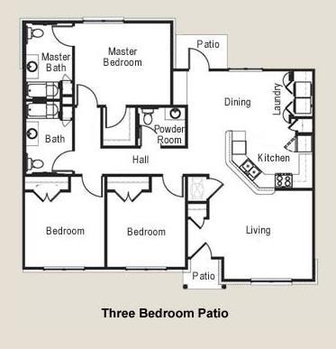 1,378 sq. ft. 60 floor plan