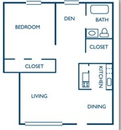 789 sq. ft. C floor plan