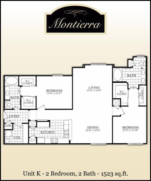 1,523 sq. ft. K floor plan