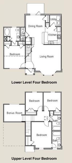 1,799 sq. ft. 60% floor plan