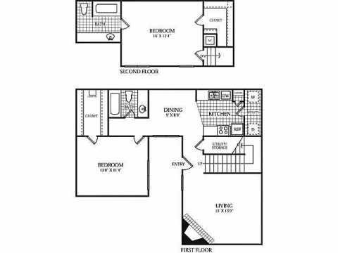 1,216 sq. ft. F floor plan