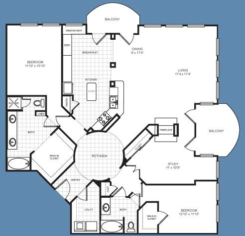 2,044 sq. ft. C3 floor plan