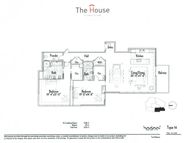 2,128 sq. ft. 14 floor plan