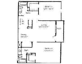 1,018 sq. ft. floor plan
