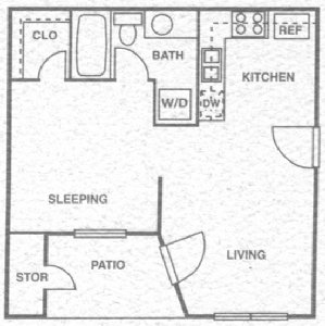 450 sq. ft. A floor plan