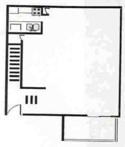 644 sq. ft. LOFT floor plan