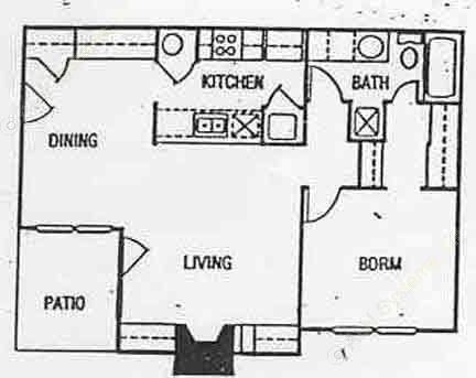 795 sq. ft. floor plan