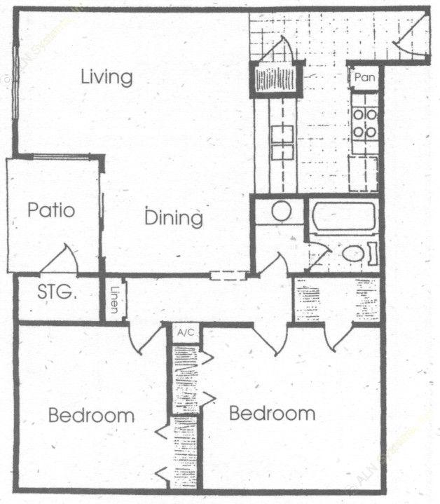 953 sq. ft. floor plan