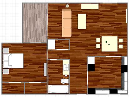 1,249 sq. ft. C1 floor plan