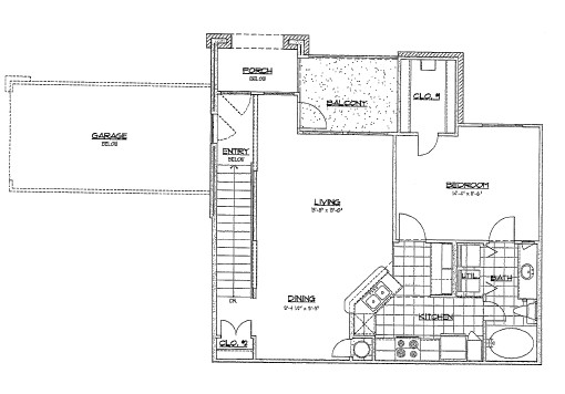 773 sq. ft. B4/60% floor plan