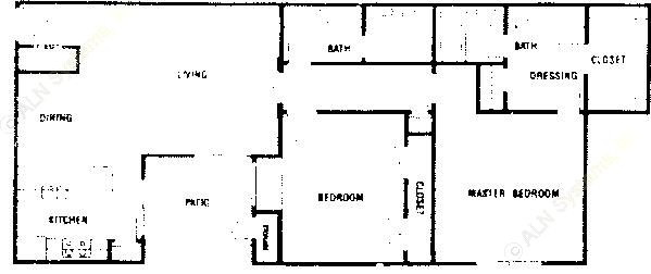 1,181 sq. ft. B2 ABP floor plan