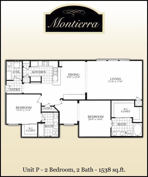 1,538 sq. ft. P floor plan