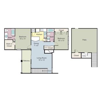 1,059 sq. ft. Nottingham floor plan