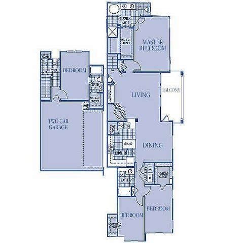 1,910 sq. ft. DIAMOND floor plan