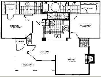997 sq. ft. GRANITE floor plan