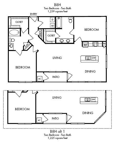 1,239 sq. ft. Serenity floor plan