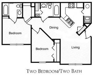 924 sq. ft. 60 floor plan