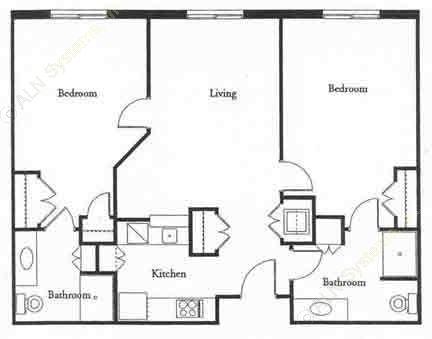 1,040 sq. ft. ROYAL floor plan