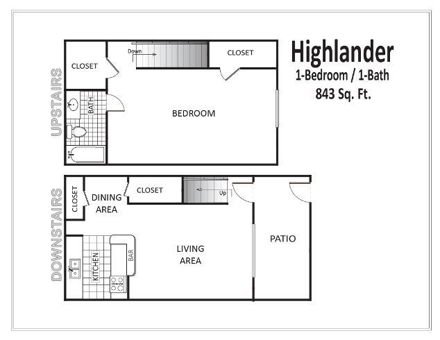 843 sq. ft. floor plan