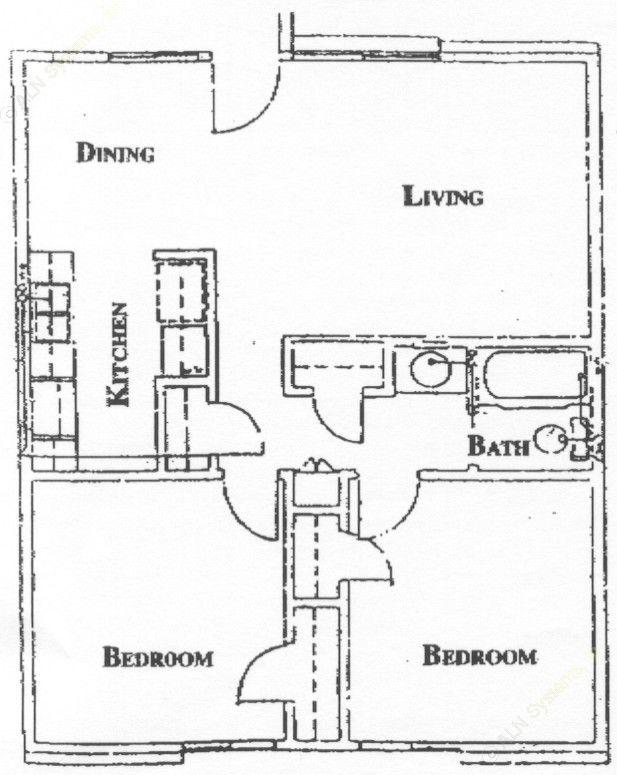 735 sq. ft. floor plan