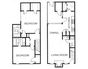 1,174 sq. ft. B4 floor plan